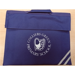 Colliers Green Book Bag with Logo