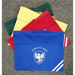 St Johns House Colour Book Bag with Logo