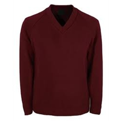 Clearance Maroon V-neck Jumpers