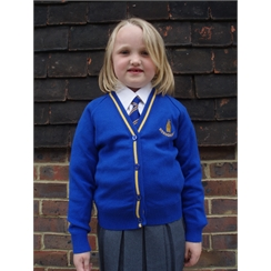 Sissinghurst Primary Cardigan with Logo
