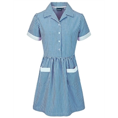 Banner Light Blue & White Stripe Summer Dress
