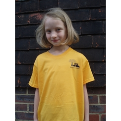 Kings Hill Yellow/Townsend PE T-Shirt with Logo