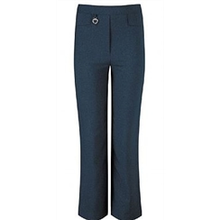 Girls Navy Talbot Junior Bootleg Trouser
