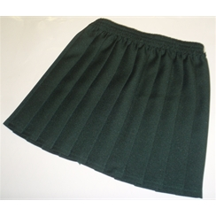 Clearance Bottle Green Junior Pleated Skirt