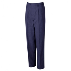 David Luke Boys Navy Elastic Backed School Trousers