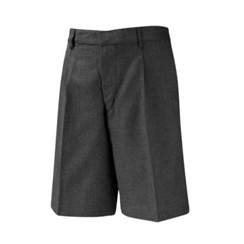 David Luke Grey Bermuda Length School Shorts