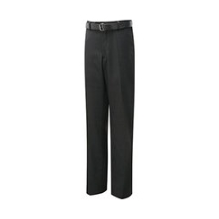 David Luke Black Slim Fit Flat Front Senior Boys Trousers