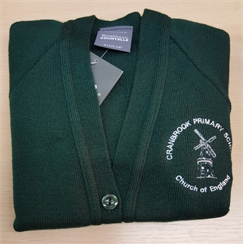 Cranbrook Primary Knitted Cardigan with Logo