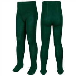 Bottle Green Twin Pack School Tights