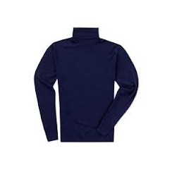 Navy Roll Neck