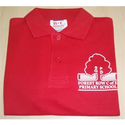 Forest Row Red Polo with Logo