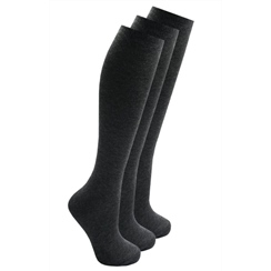 Grey 3-Pack Long Socks