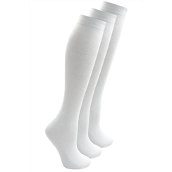 White 3-Pack Long Socks