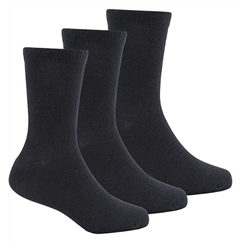 Black 3-Pack Short Socks