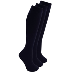 Navy 3-Pack Long Socks