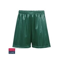 Bottle Green Shadow Stripe Short
