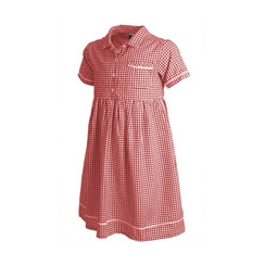Pex Red Gingham Summer Dress