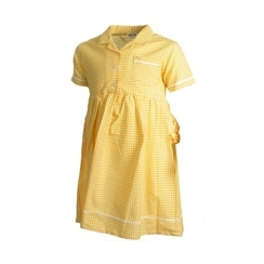 Pex Yellow Gingham Summer Dress