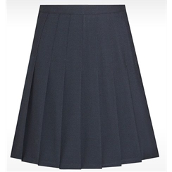Navy Senior Stitch Down Pleated Skirt